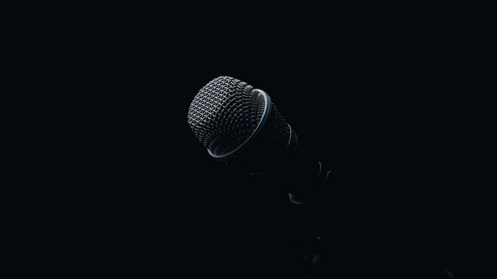 Microphone in the dark