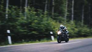 motorcycle going fast