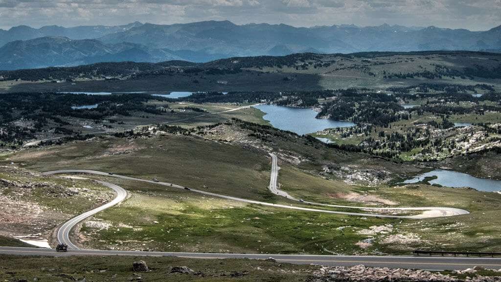 View from the top of the Beartooth Highway