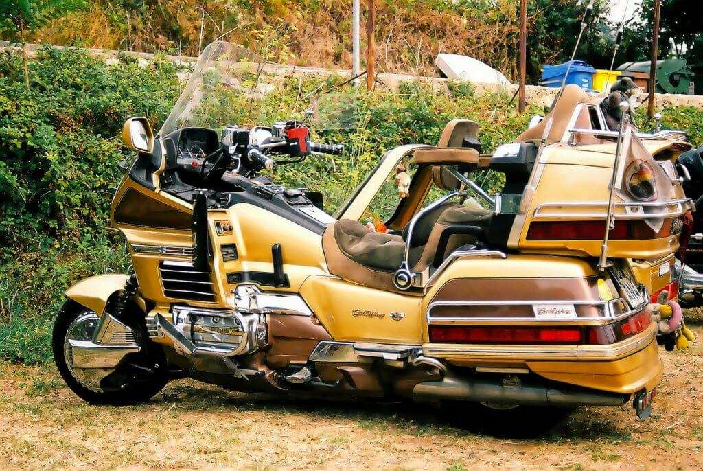 Honda Goldwing from the side