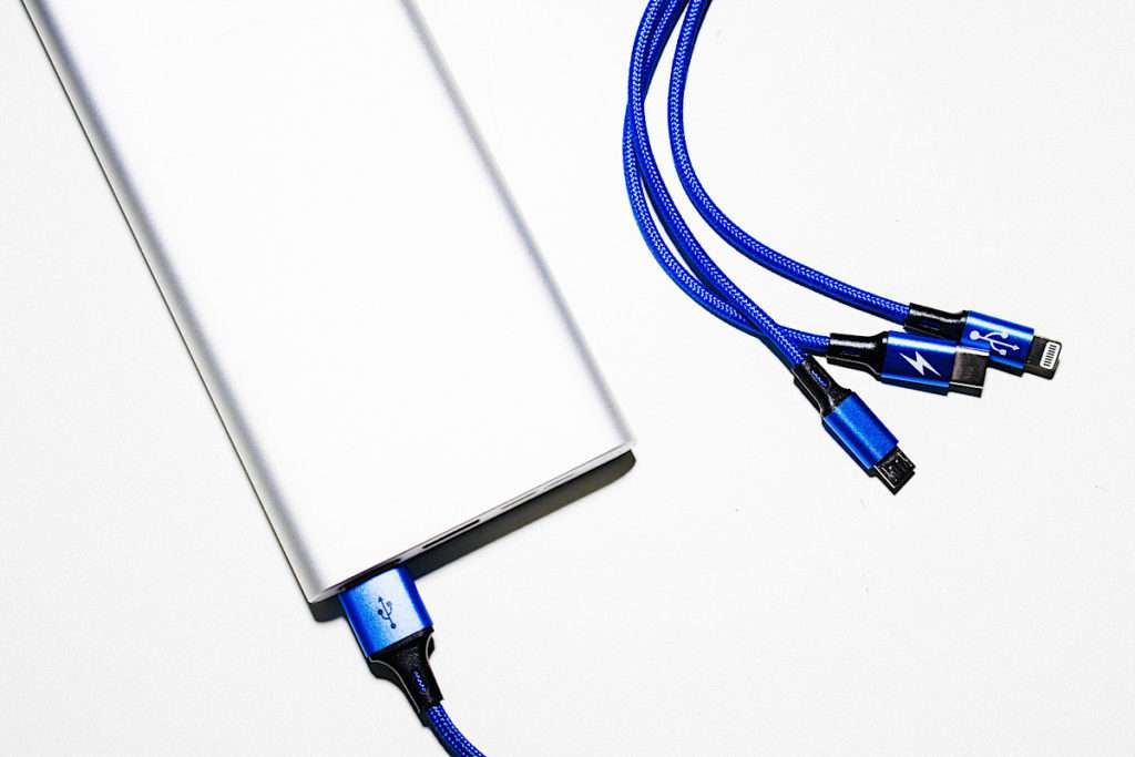 Battery pack with blue cables