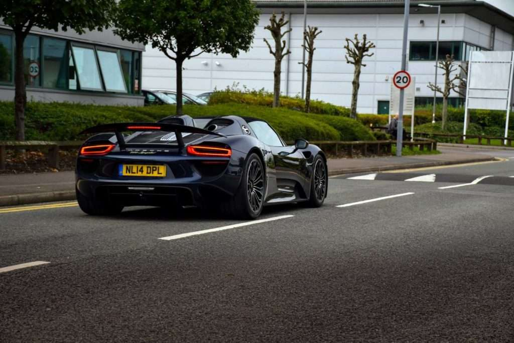 Porsche 918 Spyder from the back