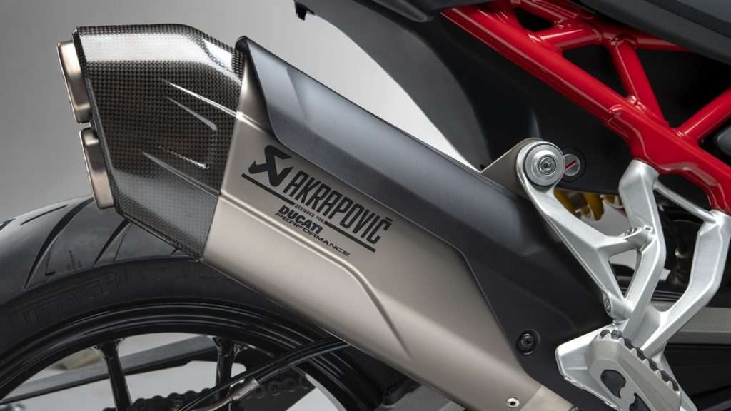 Detail photo of the exhaust
