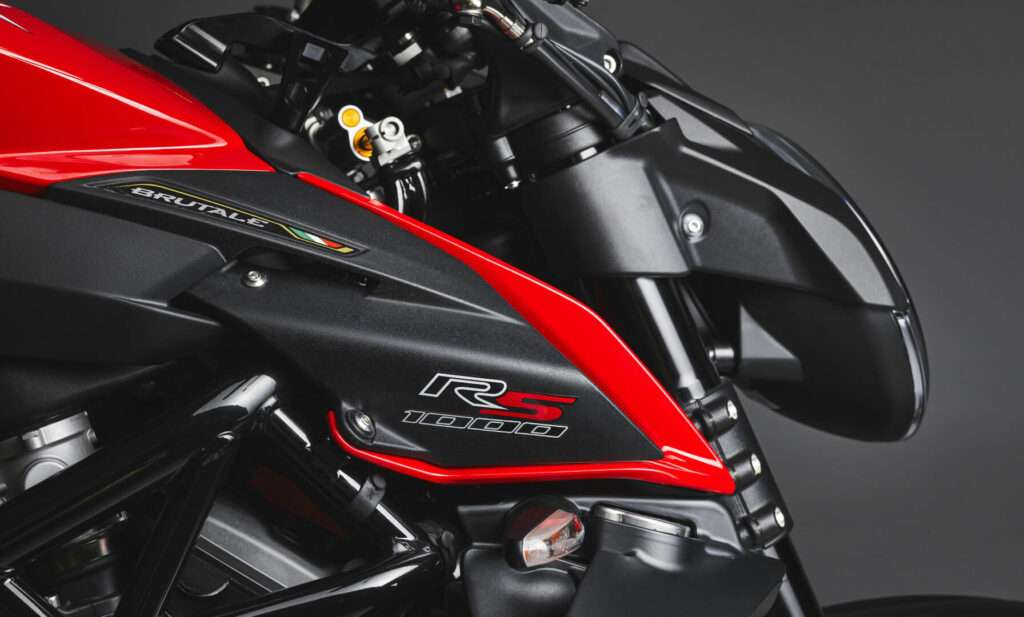 Close-up of the MV Agusta Brutale 2022 front